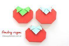 Pomidory #tomato #origami #tomatoorigami #vegetablesorigami #origamiforkids #easyorigami