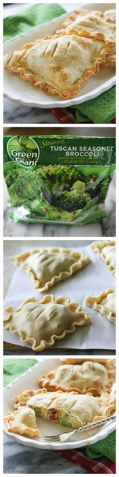 Tuscan Chicken and Broccoli Hand Pies - www.the-girl-who-ate-everything.com