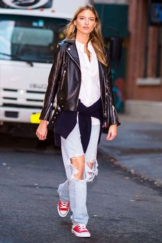 The Coolest Sneakers to Wear With Boyfriend Jeans