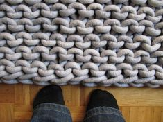 Arm Knitting Rug | Crochet Rugs - Doily Rugs