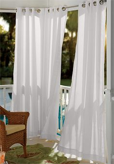 hanging outdoor curtains - the polkadot chair | outdoor living ... - Outdoor Patio Curtain Ideas