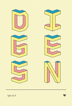 ISOMETRIC // TYPEFACE by kuul kidd, via Behance