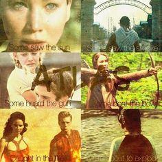 Hunger Games / Peeta / Katniss / Catching Fire Hunger Games Movies, Hunger Games Fandom, Hunger Games Humor, Hunger Games Catching Fire, Hunger Games Trilogy, Book Tv, Mockingjay, Jennifer Lawrence, Love Songs