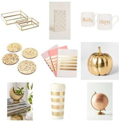 Gold Love - Gift Ideas For the Girl Who Loves Gold