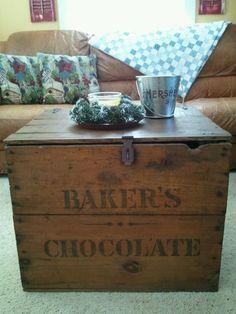 Crate coffee table #LiquidGoldSalvagedWood