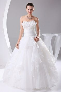 wedding dress,wedding dresses,wedding dress,wedding dresses ball gown satin organza pongee sweetheart natural waist floor length lace-up sleeveless wedding dress Cute Wedding Dress, Fall Wedding Dresses, Colored Wedding Dresses, Bridesmaid Dresses, Prom Dress, Organza Wedding Gowns, Strapless Organza, Bridal Gowns, Gown Wedding