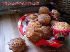 Y a la luna se le ve ve el ombligo...: 18 Magdalenas y un pastel
