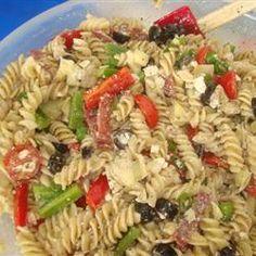 my favorite greek pasta salad recipe