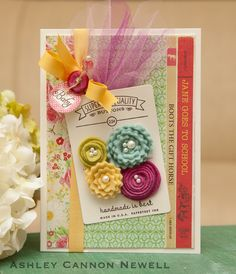 a new design: handmade card, like the use of the button tag.