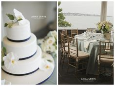 A beautiful late-summer wedding in nanvy and cream at Newport's The Chanler at Cliff Walk. Photos by Anna Sawin Photography www.annasawin.com