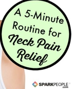 Pain in the neck? These feel-good stretches and exercises can help! | via @SparkPeople #fitness #injury