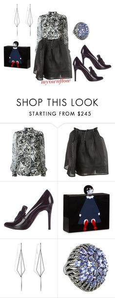 """HAPPY HOUR"" by myownflow ❤ liked on Polyvore featuring Lanvin, Lulu Guinness and Diane Kordas"