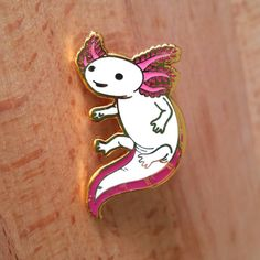 Axolotl Hard Enamel Pin - Gold, White, and Pink - Lapel Pin Cloisonné Badge by Ohjessicajessica on Etsy Axolotl, Mochila Kpop, Jacket Pins, Pin And Patches, Jacket Patches, Hard Enamel Pin, Cool Pins, Pin Badges, Lapel Pins