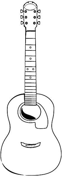 acoustic guitar outline