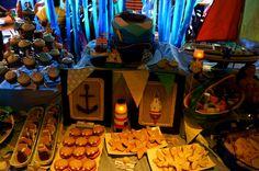 nautical birthday buffet