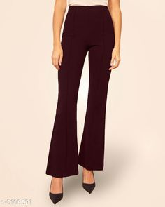 Trousers & Pants Trendy Women's Trouser Fabric: Cotton Blend Pattern: Solid Multipack: 1 Sizes:  28 (Waist Size: 28 in Length Size: 40 in) Country of Origin: India Sizes Available: 28, 30, 32, 34, 36   Catalog Rating: ★4.2 (8052)  Catalog Name: Women Trousers CatalogID_929664 C79-SC1034 Code: 963-6109591-309