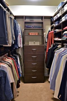 Walk-In Closet. Great idea to revamp our closet