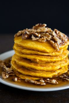 Pumpkin Pancakes - from @Angie Wimberly McGowan (Eclectic Recipes)