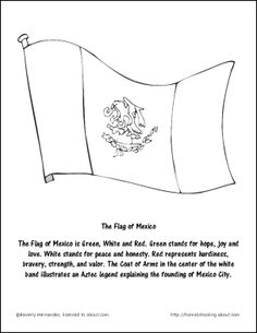 1000 images about school cinco de mayo reading night on for Mexican flag coloring page