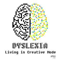 http://gifded.com/products Dyslexia - positive messages on products to wear or carry with pride.