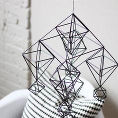 himmeli no 5  hanging mobile  modern mobile  sculpture  by HRUSKAA