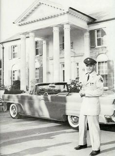 Elvis at Graceland when he was in the Army.