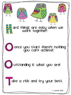 Teacher Mom of 3: Wise Owls-Posters & Writing: My Gift to You!