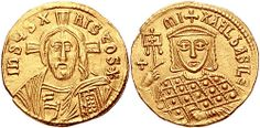 B37 A Rare and Exceptional Byzantine Gold Solidus of Michael III the Drunkard, Among the Finest Examples Known of this Issue 842-867  AD