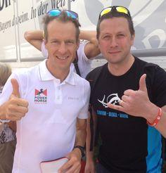 Marco trifft Timo Bracht - den 3. Platzierten der Datev Challenge Roth 2013
