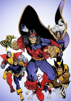 New X-Men: Thunderbird, Storm, Wolverine, Colossus and Banshee 😇👍❤️ Comic Book Artists, Comic Book Characters, Marvel Characters, Comic Character, Comic Books Art, Comic Art, X Men Comics, Marvel Comics Superheroes, Marvel X