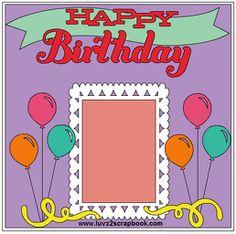 Cricut Sketch Thursday: Balloon Birthday Scrapbook Layout using CTMH Artiste Cartridge