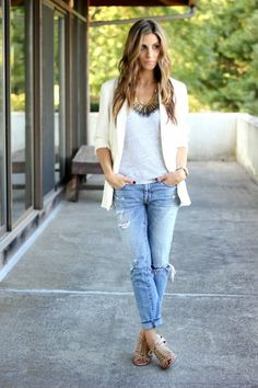 Lauren McBride Dressing Up Distressed Denim