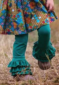 One Good Thread - Persnickety Clothing | Triple Ruffle Legging - Turquoise - Emerald Pine, $48.00 (http://www.onegoodthread.com/persnickety-clothing-triple-ruffle-legging-turquoise-emerald-pine/)