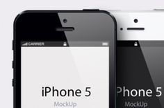 Our iPhone 5 vector mockup template is a fully-scalable vector shape iPhone 5 psd. We have created a very detailed front...