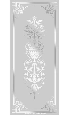 All of our Victorian and Traditional etched glass designs can be used with any border so the images below can be used to create your [. Window Glass Design, Glass Partition Designs, Frosted Glass Design, Frosted Glass Door, Etched Glass Windows, Etched Glass Door, Glass Hinges, Sliding Glass Door, Glass Doors