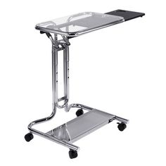 Studio Designs Clear Glass Laptop Cart | Overstock.com Shopping - The Best Prices on Laptop Desks