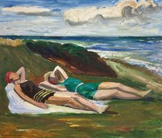 "igormaglica: ""Anders Gudmundsen-Holmgren (1872-1967), Badepiger ved stranden / Bathing girls at the beach, n.d. """