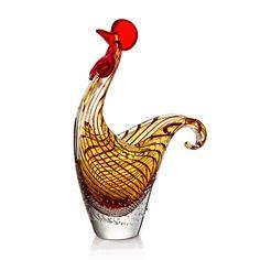 Art Glass Rooster Bowl - Tittles & Bits