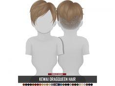 Sims 4 CC - Kewai Dragqueen Hair - Toddlers - By: Simpliciaty Sims 4 Hair Male, Sims 4 Black Hair, Sims Hair, Sims 4 Mods Clothes, Sims 4 Clothing, Sims Mods, Kids Clothing, Sims 4 Cas, Sims Cc