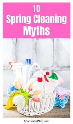 10 Spring Cleaning Myths You Need to Know- These 10 debunked spring cleaning myths could lead to you wasting time, wasting money, or even damaging the things you're trying to clean! | #springCleaning #cleaningTips #cleaning #cleaningHacks #ACultivatedNest Toilet Cleaning, Deep Cleaning, Spring Cleaning, Cleaning Hacks, Cleaning Wipes, Dishwasher Cleaner, Clean Dishwasher, Commercial Cleaners, Natural Cleaners