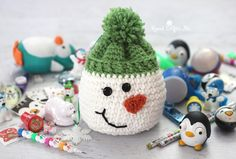 Crochet Snowman Sack with Stocking Stuffers from Oriental Trading - Repeat Crafter Me