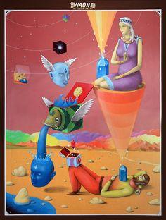 """Dream"" Waone, mixed technique on canvas, 2011 cm Psychedelic Art, Graffiti, Hippie Art, Soul Art, Pop Surrealism, Visionary Art, Surreal Art, Urban Art, Trippy"