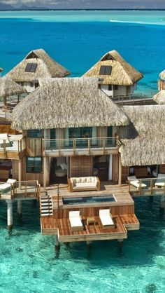 Bora Bora ... a DREAM. Then wake up and jump in the ocean from your own balcony... pure awesomeness