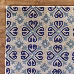 Snowflake Blue Rug #birchlane