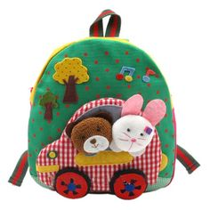 Cute Kawaii Baby Children's Backpack Bear and Bunny Pre-Schoolbag Bookbag Your Gallery
