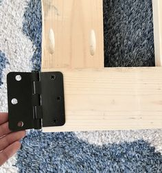 Make your own DIY custom baby gate to install at the top of stairs or in hallways. These baby gates can be customized to fit your space & match your decor. Wood Baby Gate, Baby Gate For Stairs, Diy Baby Gate, Custom Baby Gates, Best Baby Gates, Wood Anchor, Gate Hinges, Staircase Remodel