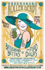 Greensboro Roller Derby Mad Dollies vs. Battleground Betties