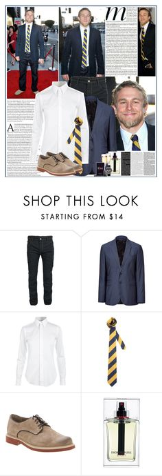 """""""Celebrity Style: charlie hunnam"""" by sofi288 ❤ liked on Polyvore featuring Sons of Anarchy, Paul Smith, PS Paul Smith, Ralph Lauren, ASOS, Hush Puppies, Christian Dior, Valentino, Michael Kors and Zippo"""