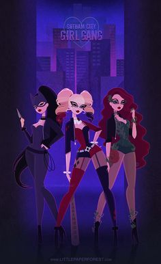 Sirens (Harley Quinn, poison ivy, catwoman)