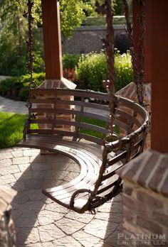 Beautiful Backyard Swing at the Provo River Estate by Platinum Landscape, LLC